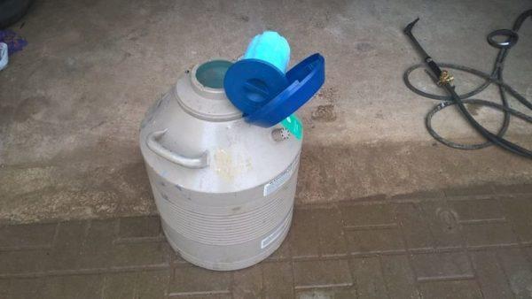 Охлаждение жидким азотом